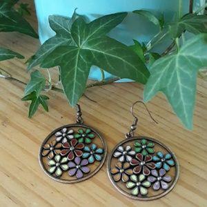 Bronze Floral Earrings